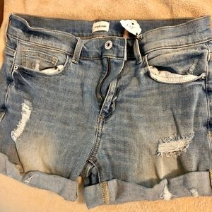 Sneak peak denim shorts NWT